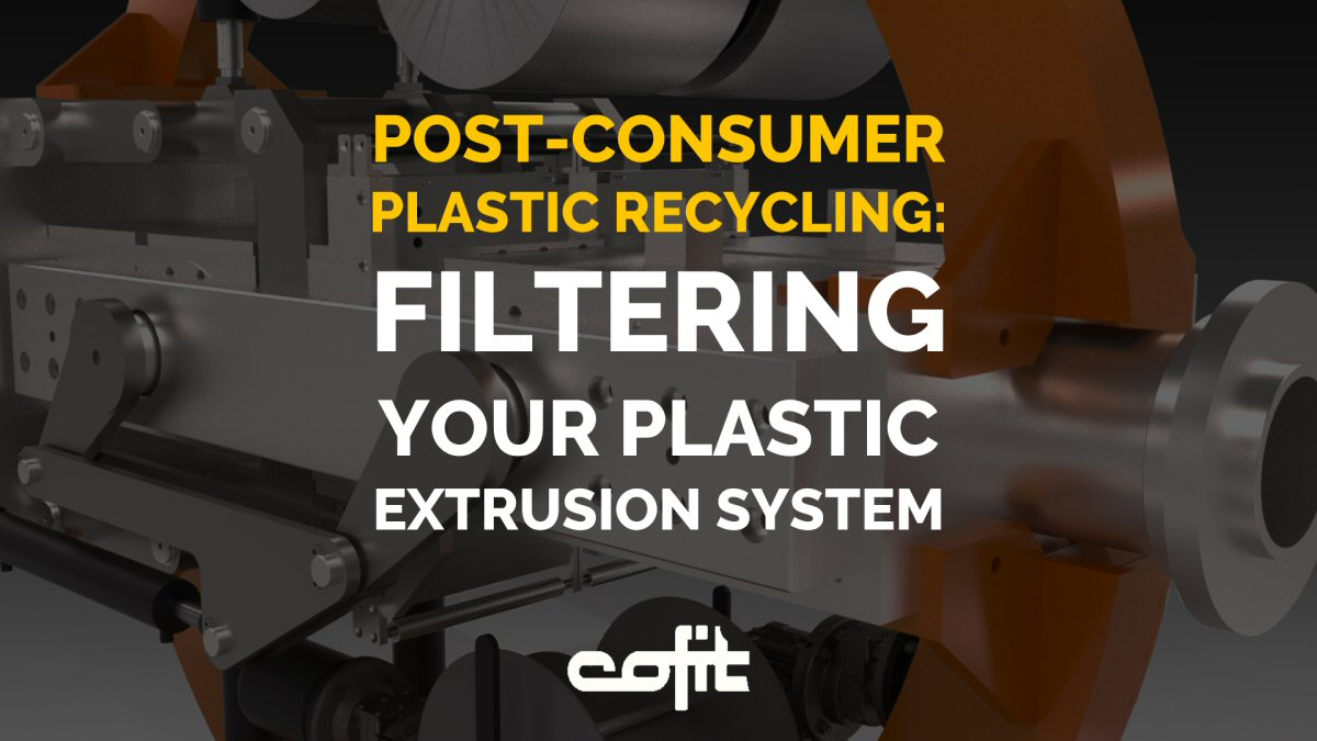 Post-consumer plastic recycling in screen changers