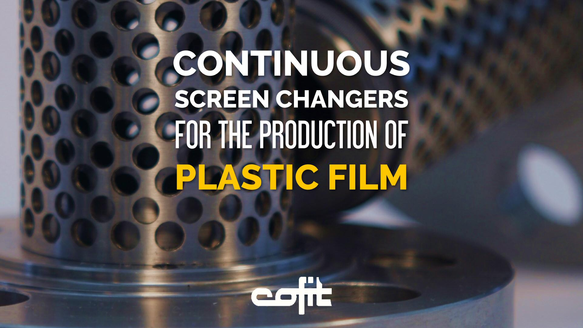Continuous screen changers for the production of plastic film