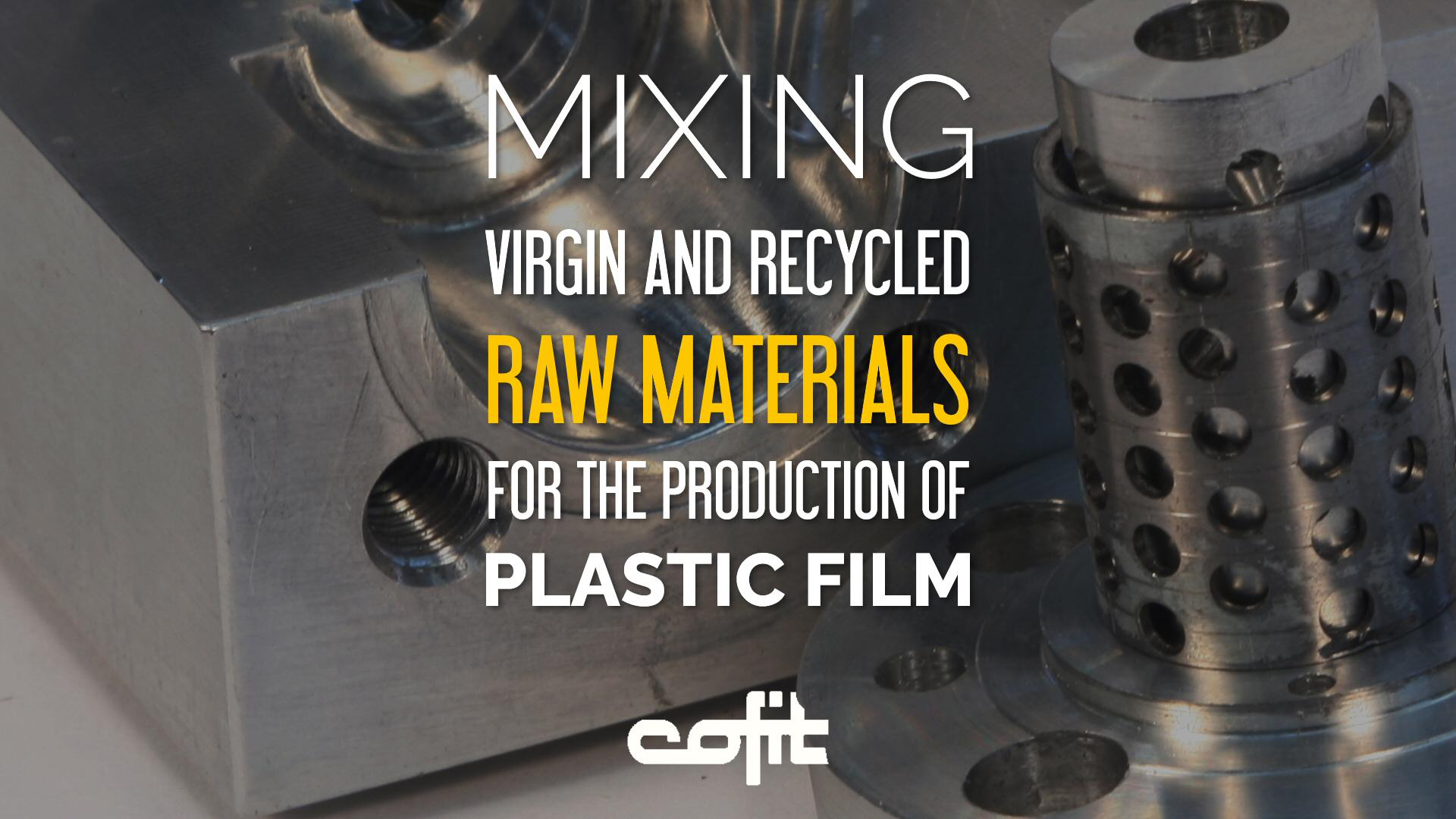 Screen changers for film from virgin/recycled raw materials